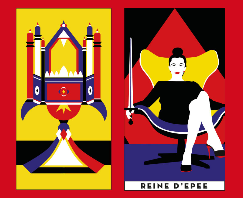 As de coupe - Reine de d'épée